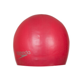 speedo Plain Moulded Silicone Cap Red
